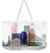 Portland Skyline Weekender Tote Bag