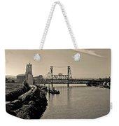 Portland Steel Bridge Weekender Tote Bag