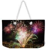 Portland Waterfront 4th Of July Fireworks Weekender Tote Bag