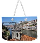 Porto And Gaia Cityscape In Portugal Weekender Tote Bag