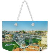 Porto Bridge Skyline Weekender Tote Bag