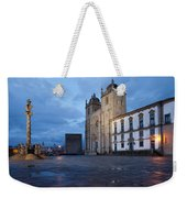 Porto Cathedral And Pillory Column In Portugal Weekender Tote Bag