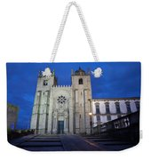 Porto Cathedral By Night In Portugal Weekender Tote Bag