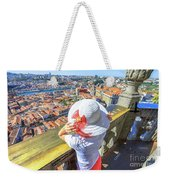 Porto Skyline Woman Weekender Tote Bag