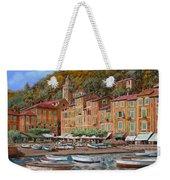 Portofino-la Piazzetta E Le Barche Weekender Tote Bag