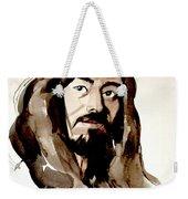 Watercolor Portrait Of A Man With Long Hair Weekender Tote Bag