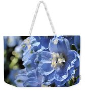 Portrait Blue Delphinium 114 Weekender Tote Bag