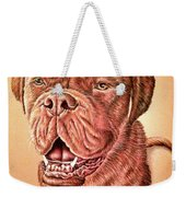 Portrait Drawing Of A Dog Weekender Tote Bag