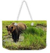 Portrait Grizzly Weekender Tote Bag
