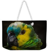 Portrait Of A Blue-fronted Parrot Weekender Tote Bag