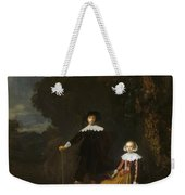Portrait Of A Couple In A Landscape Weekender Tote Bag