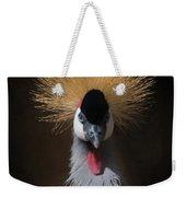 Portrait Of A Crowned Crane 2 Weekender Tote Bag