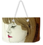 Portrait Of A Lovely Young Woman Weekender Tote Bag