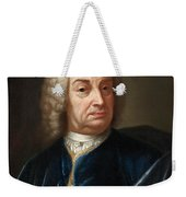 Portrait Of A Gentleman Half Length Wearing A Wig And A Blue Velvet Cape Weekender Tote Bag