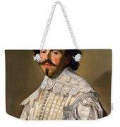 Portrait Of A Gentleman In White Weekender Tote Bag