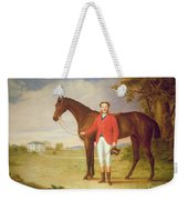 Portrait Of A Gentleman With His Horse Weekender Tote Bag