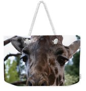 Portrait Of A Giraffe Weekender Tote Bag