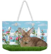 Portrait Of A Gregarious Brown Bunny Weekender Tote Bag