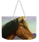 Portrait Of A Horse Weekender Tote Bag by James W Johnson