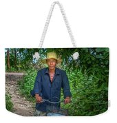 Portrait Of A Khmer Rice Farmer - Cambodia Weekender Tote Bag