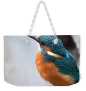 Portrait Of A Kingfisher Weekender Tote Bag