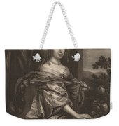 Portrait Of A Lady Beside A Rose Bush Weekender Tote Bag