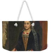 Portrait Of A Lady Half Length In A Mantua Gown And Lace Frelange Headdress Weekender Tote Bag