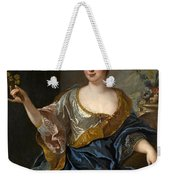 Portrait Of A Lady Three-quarter-length Holding Flowers Weekender Tote Bag