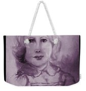 Portrait Of A Little Girl Weekender Tote Bag