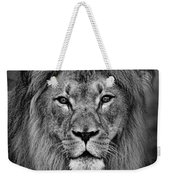 Portrait Of A Male Lion Black And White Version Weekender Tote Bag
