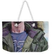 Portrait Of A Mountain Walker. Weekender Tote Bag