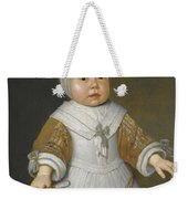 Portrait Of A One-year-old Girl Of The Van Der Burch Family Three-quarter Length Weekender Tote Bag