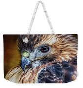 Portrait Of A Red-tailed Hawk Weekender Tote Bag