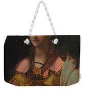 Portrait Of A Richly Dressed Lady Weekender Tote Bag