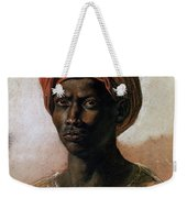 Portrait Of A Turk In A Turban Weekender Tote Bag by Ferdinand Victor Eugene Delacroix