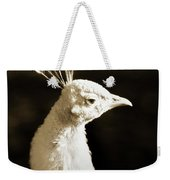 Portrait Of A White Peacock Weekender Tote Bag