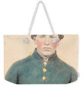 Portrait Of A Young  Civil War Soldier 3 Weekender Tote Bag