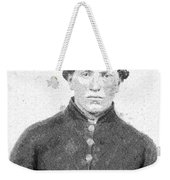 Portrait Of A Young  Civil War Soldier 4 Weekender Tote Bag