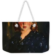 Portrait Of A Young Girl Weekender Tote Bag