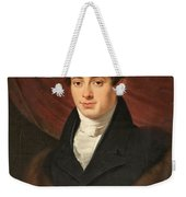 Portrait Of A Young Man In Front Weekender Tote Bag