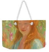 Portrait Of A Young Women In Garden 1912 Weekender Tote Bag