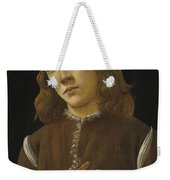 Portrait Of A Youth Weekender Tote Bag