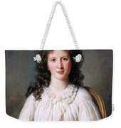 Portrait Of Adelaide Binart Weekender Tote Bag