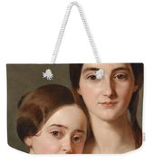 Portrait Of Alexandrine Pazzani And Her Cousin Caroline Von Saar According To Family Tradition Weekender Tote Bag