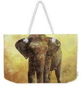 Portrait Of An Elephant Digital Painting With Detailed Texture Weekender Tote Bag