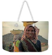 Portrait Of An Indian Lady Weekender Tote Bag
