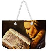 Portrait Of An Old Woman Reading Weekender Tote Bag