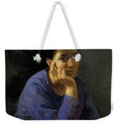 Portrait Of An Unknown Woman In A Blue Blouse Weekender Tote Bag
