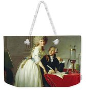 Portrait Of Antoine-laurent Lavoisier And His Wife Weekender Tote Bag