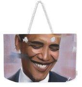 Portrait Of Barack Obama Weekender Tote Bag